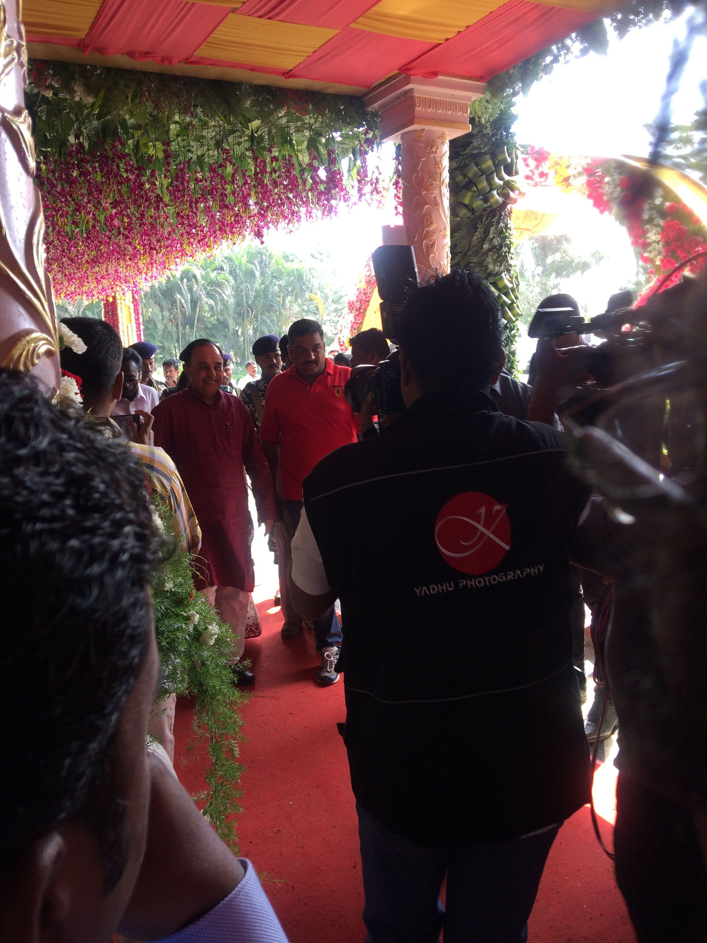 Filesubramanian Swamy At Saravana Stores Family Wedding Party
