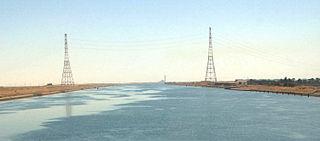 Suez Canal overhead powerline crossing