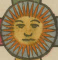 "Sun art from ""Calendario"" (Calendar) art in the year 1585, from- The Aztec Tonalpohualli Calendar WDL6732 (cropped).png"
