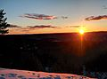 Sunset Bjønnåsen 2.4.2015 - panoramio.jpg