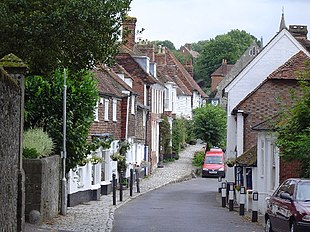 Sutton Valence High Street looking East towards the Post Office