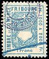 Switzerland Fribourg 1907 revenue 1Fr - 108C.jpg