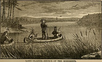 Lake Alice (Hubbard County, Minnesota) - Lake Alice (Glazier) as depicted in Sword and pen - or, Ventures and adventures of Willard Glazier in war and literature (1890)