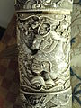 Sword scabbard (detail), Japan, artist unknown, carved ivory - George Walter Vincent Smith Art Museum - DSC03546.JPG