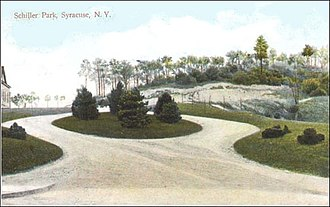 Northside, Syracuse - Schiller Park entrance c.1910