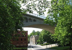 Bundesstraße 92 - The Peace Bridge in Plauen