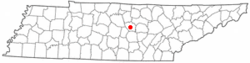 Location of Smithville, Tennessee