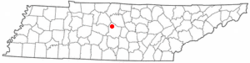 Location of Smyrna, Tennessee