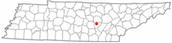 Location of Spencer, Tennessee