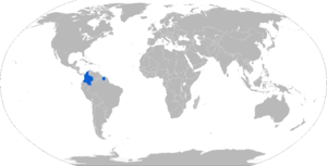 Hunter TR-12 - Map with TR-12 operators in blue