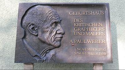 Tafel am Geburtshaus von A. Paul Weber in Arnstadt.jpg