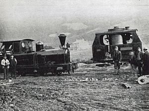 Plynlimon and Hafan Tramway - Talybont (left) and Victoria pictured at Talybont station