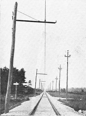 Portland–Lewiston Interurban - Typical tangent track on the line