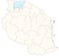 Tanzania regions blank.png