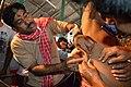 Tapas Dutta Thread Pierces Sushil Panja - Gajan Ritual - Bainan - Howrah 2015-04-14 8101.JPG