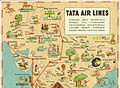 Tata Air Lines' Airline Timetable Image, October 1939 (interior).jpg