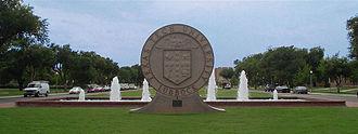 Amon G. Carter - The main entry to Texas Tech University, Amon G. Carter Plaza