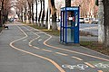 Telephone booth in the way of bicycle tracks.jpg