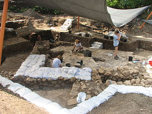 Tel Kabri - 2011 excavations in Area D South-1