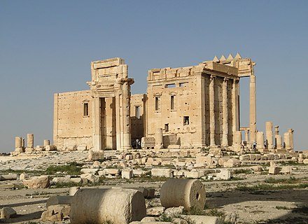 Temple of Bel in Palmyra, which was destroyed by ISIL in August 2015 Temple of Bel, Palmyra 02.jpg