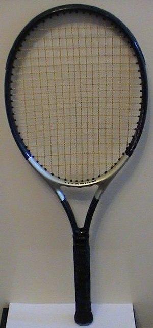 Strings (tennis) - A strung tennis racquet