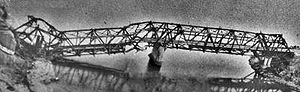 North–South Railway (Vietnam) - Thanh Hóa Bridge, damaged by smart bombs.