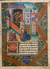 The Buffeting before the high priest Mary faints in John's arms outside the gate