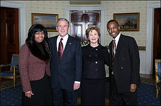 Ben Carson - Ben Carson and Candy Carson with President George W. Bush and First Lady Laura Bush in 2008