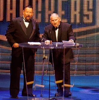 Luke Williams (wrestler) - Williams (left) and Butch Miller during their Hall of Fame induction in 2015.
