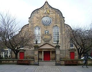 Kirk of the Canongate Church in Edinburgh, Scotland