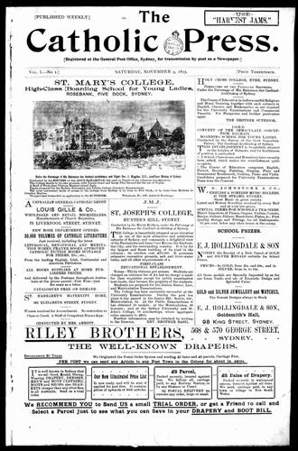 Catholic Press - The Catholic Press, 9 November 1895
