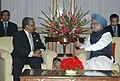 The Chief Advisor, Bangladesh, Dr. Fakhruddin Ahmed calling on the Prime Minister, Dr. Manmohan Singh, in New Delhi on November 12, 2008.jpg