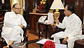 The Chief Minister of Assam, Shri Tarun Gogoi calling on the Union Minister for Finance, Corporate Affairs and Information & Broadcasting, Shri Arun Jaitley, in New Delhi on June 11, 2015.jpg