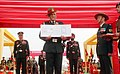 The Chief of Army Staff, General Bipin Rawat releasing the first day cover, on the occasion of Standard Presentation to the Armoured Regiments, at Suratgarh Military Station, in Rajasthan on December 05, 2017.jpg