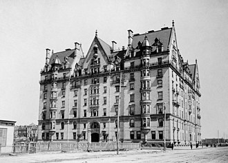 The Dakota - The Dakota c. 1890; at the time, this area of Manhattan was sparsely developed and remote from the core of the city's population