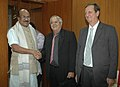 The Deputy Minister of Agriculture, Cuba, Mr. Jose Puente Napoles calling on the Minister of State of Agriculture, Consumer Affairs, Food & Public Distribution, Professor K.V. Thomas, in New Delhi on December 01, 2009.jpg