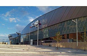 Echo Arena Liverpool - The Echo Arena soon after completion