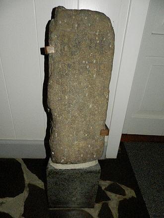 Fámjin - Image: The Famjin Stone a Faroese Runestone