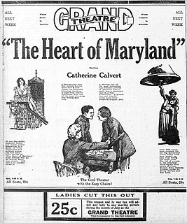 <i>The Heart of Maryland</i> (1921 film) 1921 film by Tom Terriss