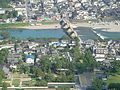The Kintaikyo bridge from the Iwakuni castle - panoramio.jpg