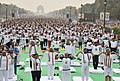 The Lieutenant Governor of Delhi, Shri Anil Baijal, the Minister of State for Civil Aviation, Shri Jayant Sinha and other dignitaries performing Yoga, on the occasion of the 4th International Day of Yoga -2018, at Rajpath (1).JPG