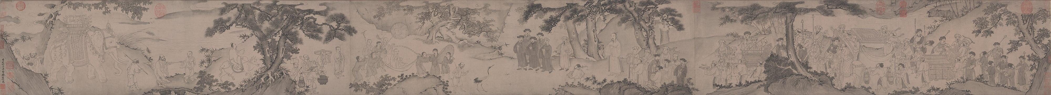 The Mahasattva of Truc Lam leaves the Mountain 竹林大士出山圖.jpg