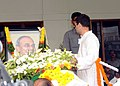 The Member Parliament, Shri Rahul Gandhi laying wreath at the mortal remains of the former Chief Minister of Andhra Pradesh, late Dr. Y.S. Rajasekhara Reddy, in Hyderabad, Andhra Pradesh on September 04, 2009.jpg