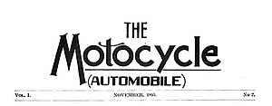 Motocycle - Image: The Motocycle magazine Nov 1895