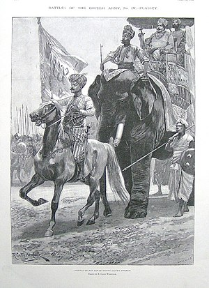 Mir Qasim - The Navab's arrival before Clive's position
