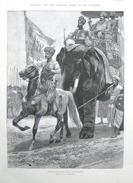 The Navab's arrival before Clive's position