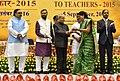 The President, Shri Pranab Mukherjee presenting the National Award for Teachers-2015 to Smt. Durba Brahma (West Bengal), on the occasion of the 'Teachers Day', in New Delhi.jpg