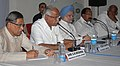 The Prime Minister, Dr. Manmohan Singh attending a review meeting after visited the flood-affected areas of Karnataka on October 10, 2009.jpg