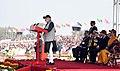 The Prime Minister, Shri Narendra Modi addressing the NCC Cadets, at the NCC Rally, in New Delhi.jpg