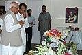 The Speaker, Lok Sabha, Shri Somnath Chatterjee paying tribute to the mortal remains of the former Prime Minister Shri Chandra Shekhar, in New Delhi on July 08, 2007.jpg